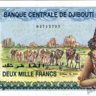 Джибути 2000 франков 2005 Pick 43 UNC