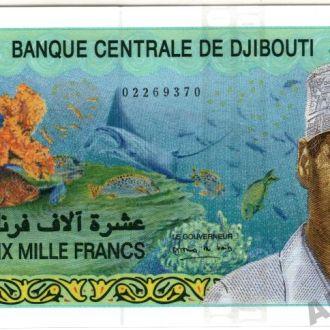 Джибути 10000 франков 2005 Pick 45 UNC
