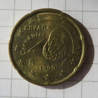 Испания 20 Евроцентов / 20 Eurocent 2002 XF!