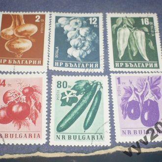 Болгария-1958 г.-Овощи полная