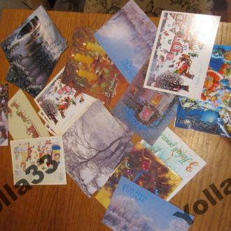 36 Новогодних открыток не подписанных