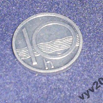 Чехия-1993 г.-10 геллеров