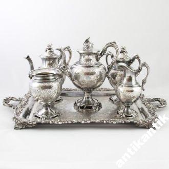 Сервиз для кофе и чая,серебрение