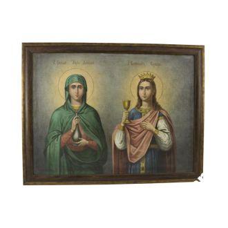 Икона Мария Магдалина и Варвара А172