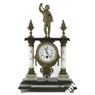 Каминные часы, охотничья тема