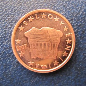 2 евроцента Словения 2007 состояние !!!