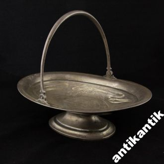 Серебряная фруктовница 1905 год,штихель 84 проба