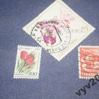 Флора-марки с дефектами