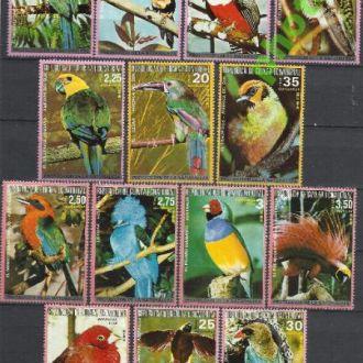 Гвинея Экватор. 1974 фауна птицы Австралии и Южной