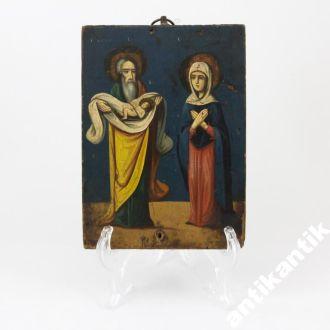 Икона старец Симеон и Анна пророчица с Иисусом