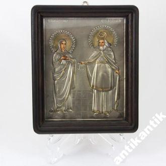 Икона Захария Елисаветы А157