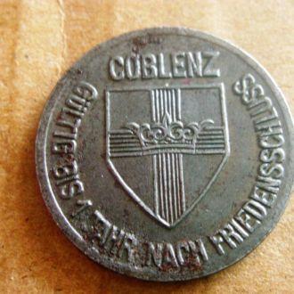 Германия  нотгельд г. Кобленц 10 пф. 1918 г