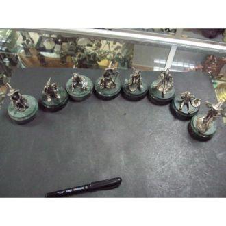 Набор гномов на подставке серебро 8 шт