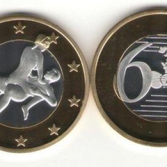 Монета 6 Sex Euros Позолота №24