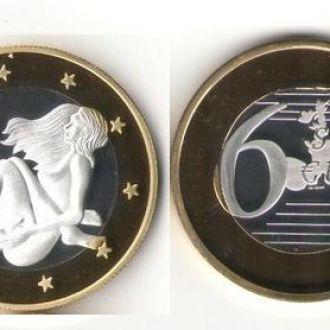Монета 6 Sex Euros Позолота №16