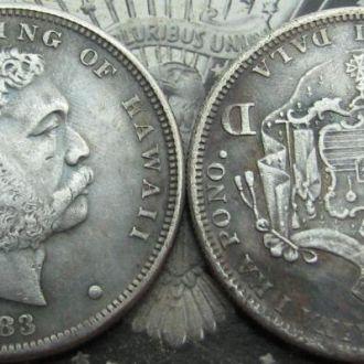 Монета 1 Доллар Гавайи 1883