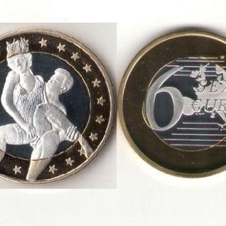 Монета 6 Sex Euros Позолота №2