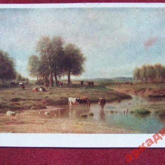 открытки(пейзаж) антикварные-худ Клодт-1955г