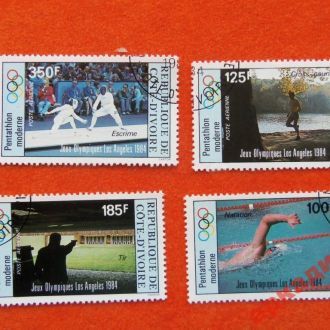 марки- Кот-д Ивуар 1988г 4 марки-спорт