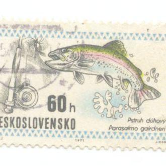 Фауна 1971 Чехословакия  Рыбы