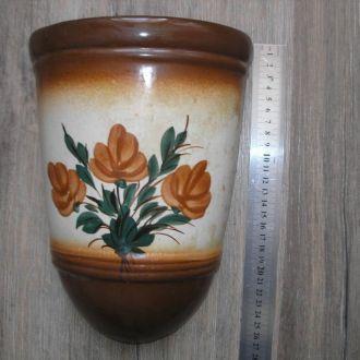 Кашпо для цветов керамика СССР 27 см