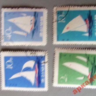 марки-КНДР спорт-парусный 1965