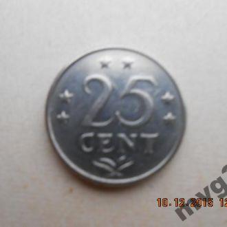 Нидерландские Антиллы,25 центов,1971 год .