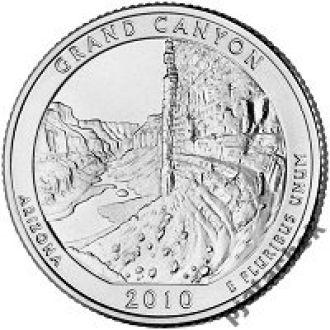 25 центов США Аризона,  парк Гранд Каньон 2010 г.