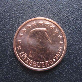 1 евроцент Люксембург 2014