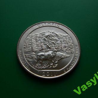 США  Парки  25 центов 2011 г.  OLYMPIC  UNC!