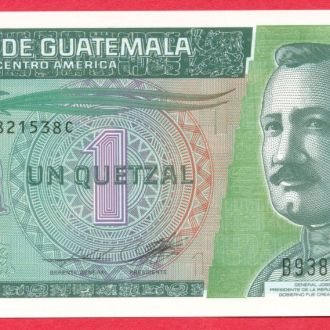 Боны Америка Гватемала 1 кетцаль 2012 г. Пластик.