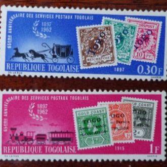 Африка-Того,почта, кони, жел.дорога