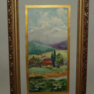 Закарпатский пейзаж,60-70е гг. Берец Й.И.