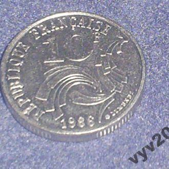 Франция-1986 г.-10 франков (юбилейная)