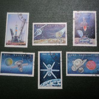 Куба. Космические аппараты. Серия 6 марок.