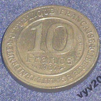 Франция-1987 г.-10 франков (юбилейная)