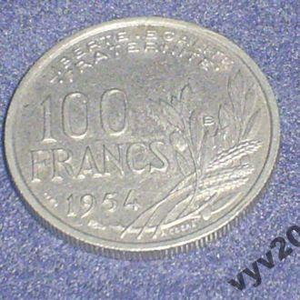 Франция-1954 г.-100 франков