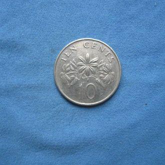 Сингапур 10 центов 1986 год