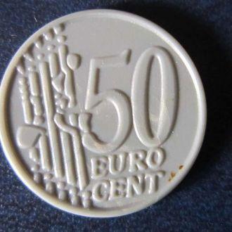 жетон 50 евроцентов пластик
