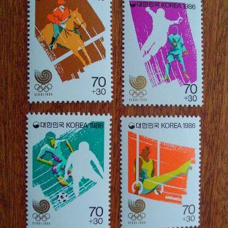 Южная Корея.1986г. Летние олимпийские игры. Полная серия. MNH