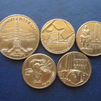 5 настольных медалей ВОВ Белоруссия война