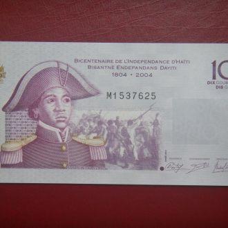 Гаити 10 гурдов 2012 UNC