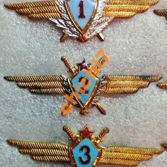 Знаки летчик 1,2,3 класса ВВС СССР