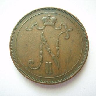 10 пенни 1907г., Россия-Финляндия.