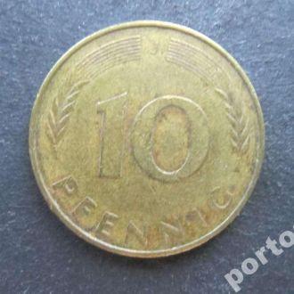 10 пфенигов ФРГ 1976 J