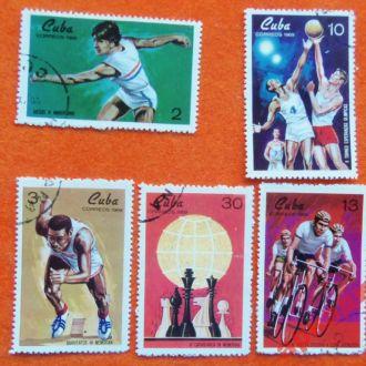 марки- Куба- спорт- 1969год  5 марок