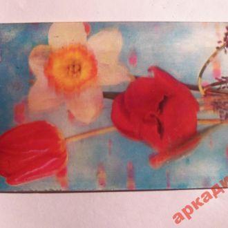 открытки-стерео цветы