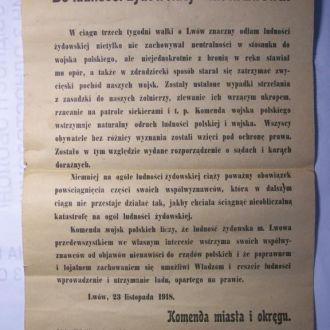 Еврейский погром,польско-украинская война, иудаика, Львов 1918