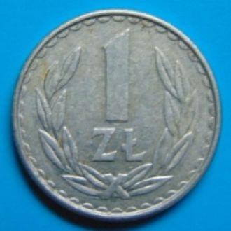 Польша 1 злотый 1986г.