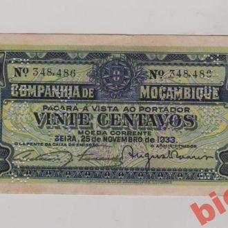 Мозамбік , 20 центаво 1933 р.